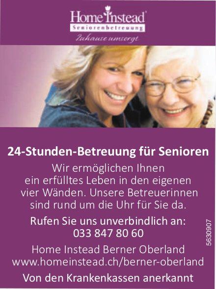 24-Stunden-Betreuung für Senioren - Home Instead Berner Oberland