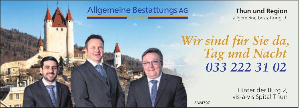 Allgemeine Bestattungs AG, Thun und Region