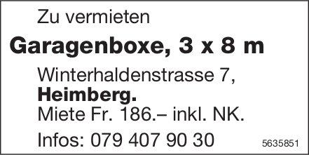 Garagenboxe, 3 x 8 m in Heimberg zu vermieten