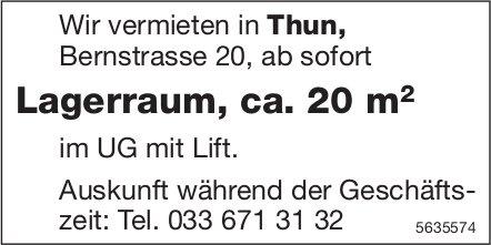 Lagerraum, ca. 20 m2 in Thun zu vermieten