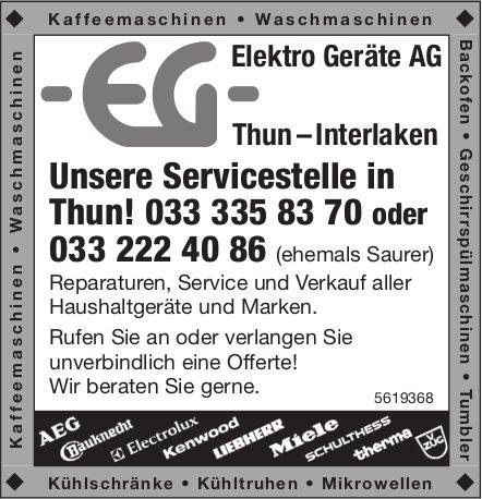 Elektro Geräte AG Thun – Interlaken