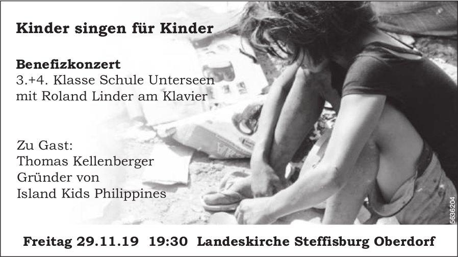Kinder singen für Kinder - Benefizkonzert 3.+4. Klasse Schule Unterseen am 29. November