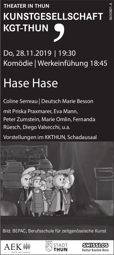 THEATER IN THUN, KUNSTGESELLSCHAFT