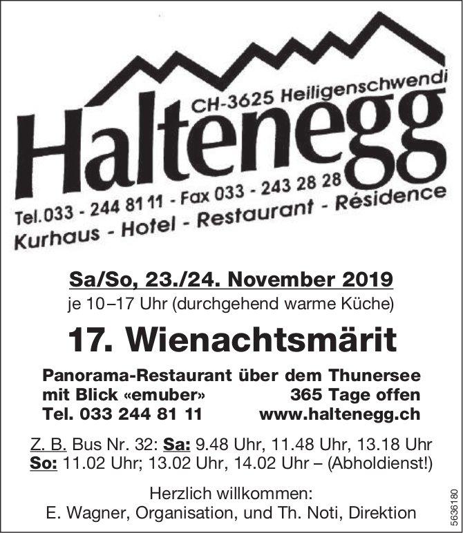 Haltenegg Heiligenschwendi - 17. Wienachtsmärit, 23./24. November