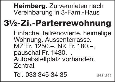 3½-Zi.-Parterrewohnung in Heimberg zu vermieten