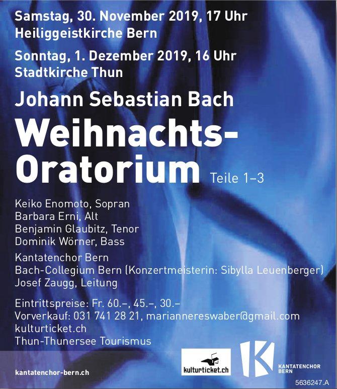 Weihnachts-Oratorium, 30. November & 1. Dezember, Bern und Thun
