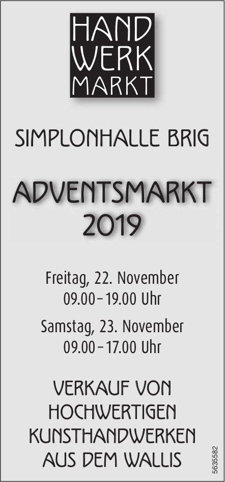HANDWERKMARKT - ADVENTSMARKT 2019, SIMPLONHALLE BRIG, 22. + 23. NOVEMBER