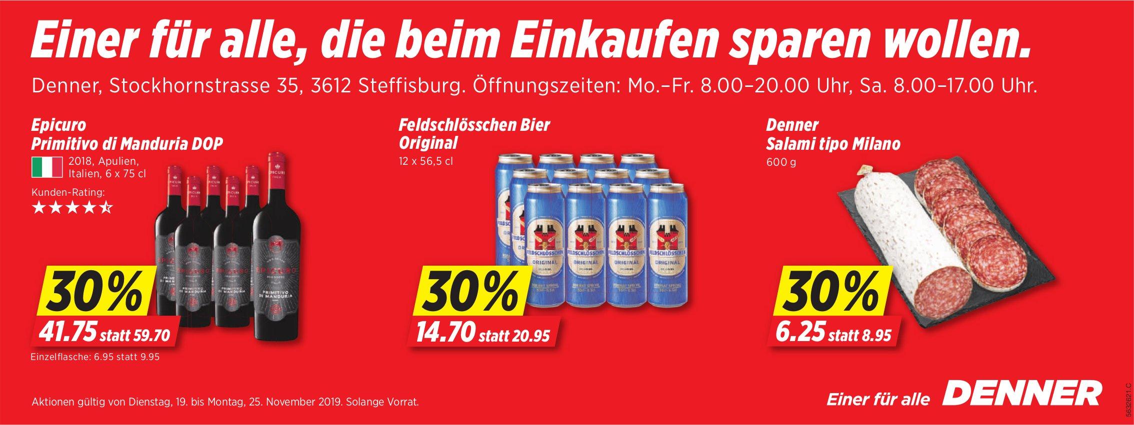 Denner, Steffisburg - Einer für alle, die beim Einkaufen sparen wollen.