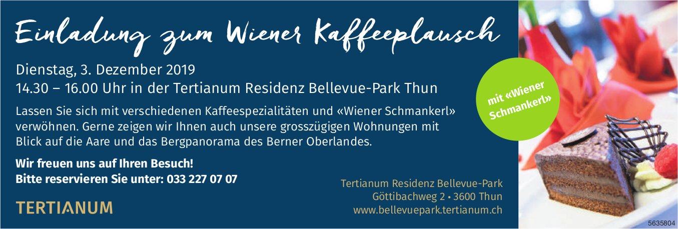 Tertianum Residenz Bellevue-Park - Einladung zum Wiener Kaffeeplausch am 3. Dezember
