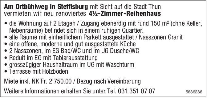 4.5-Zimmer-Reihenhaus in Steffisburg zu vermieten