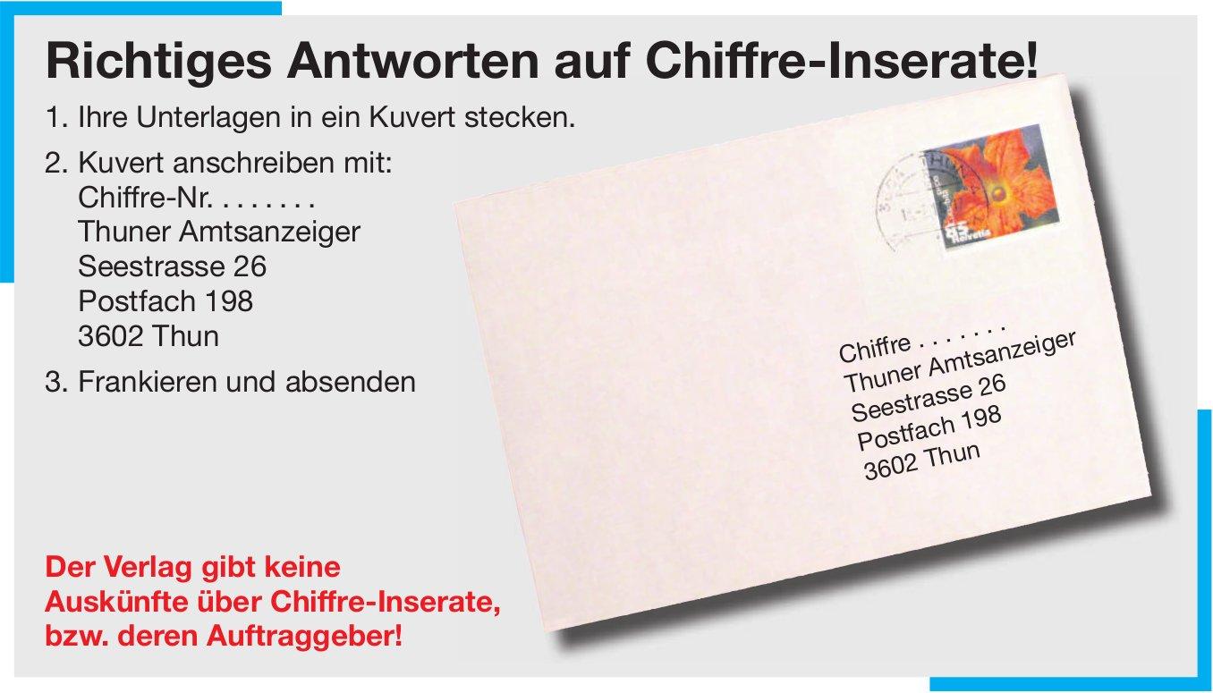 Thuner Amtsanzeiger - Richtiges Antworten auf Chiffre-Inserate!