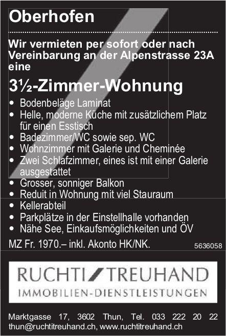 3½-Zimmer-Wohnung in Oberhofen zu vermieten