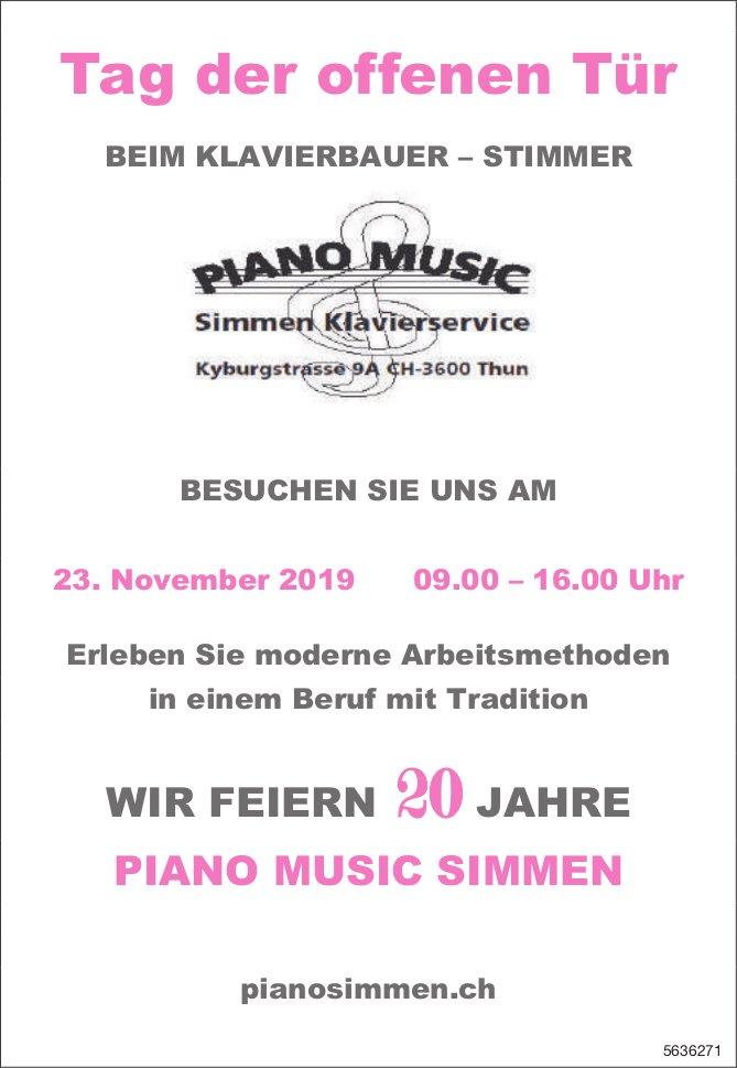 Piano Music Simmen - Tag der offenen Tür am 23. November