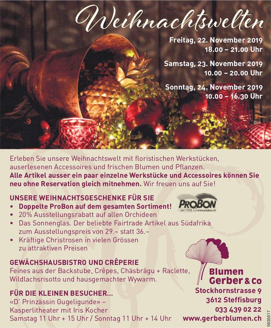 Blumen Gerber &Co - Weihnachtswelten, 22./23./24. November