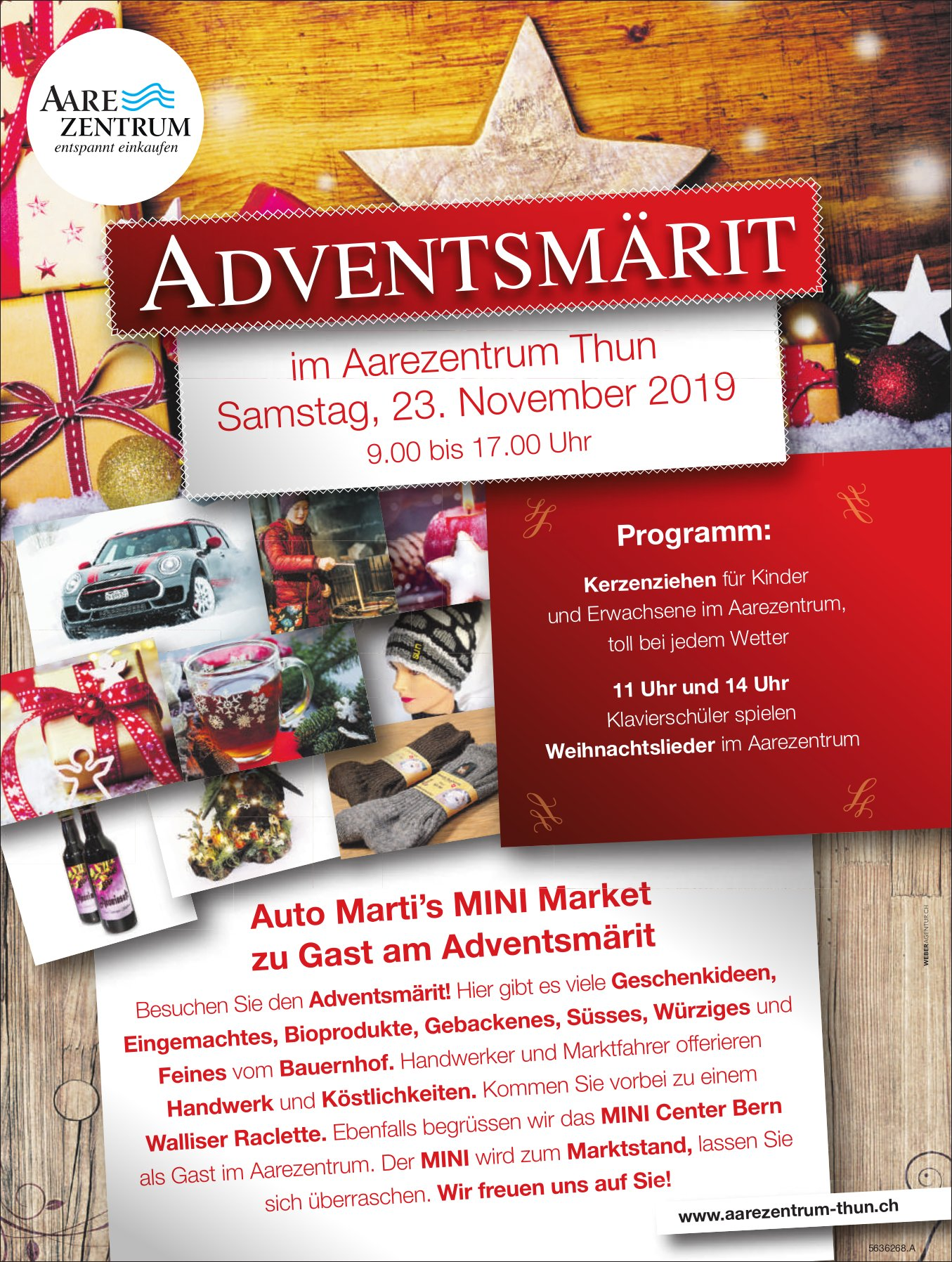 ADVENTSMÄRIT, 23. November, Aarezentrum Thun