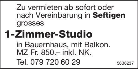 1-Zimmer-Studio in Seftigen zu vermieten