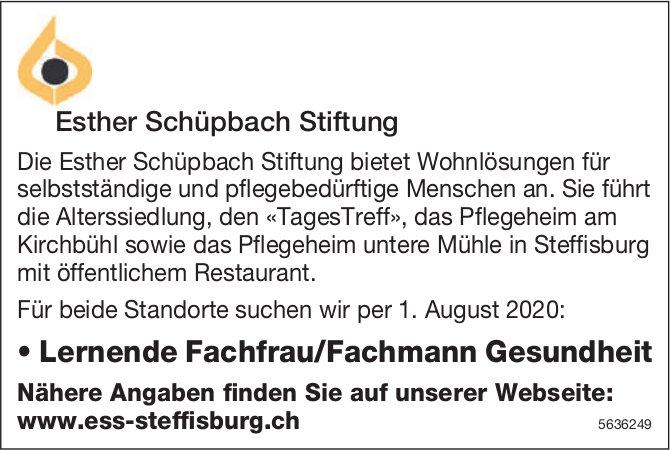 Lernende Fachfrau/Fachmann Gesundheit bei Esther Schüpbach Stiftung gesucht