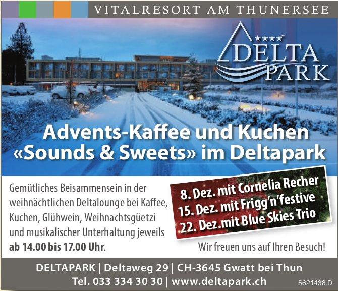 Advents-Kaffee und Kuchen «Sounds & Sweets» im Deltapark, 8./15./22. Dezember