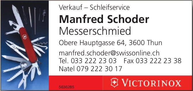 Manfred Schoder Messerschmied - Verkauf, Schleifservice
