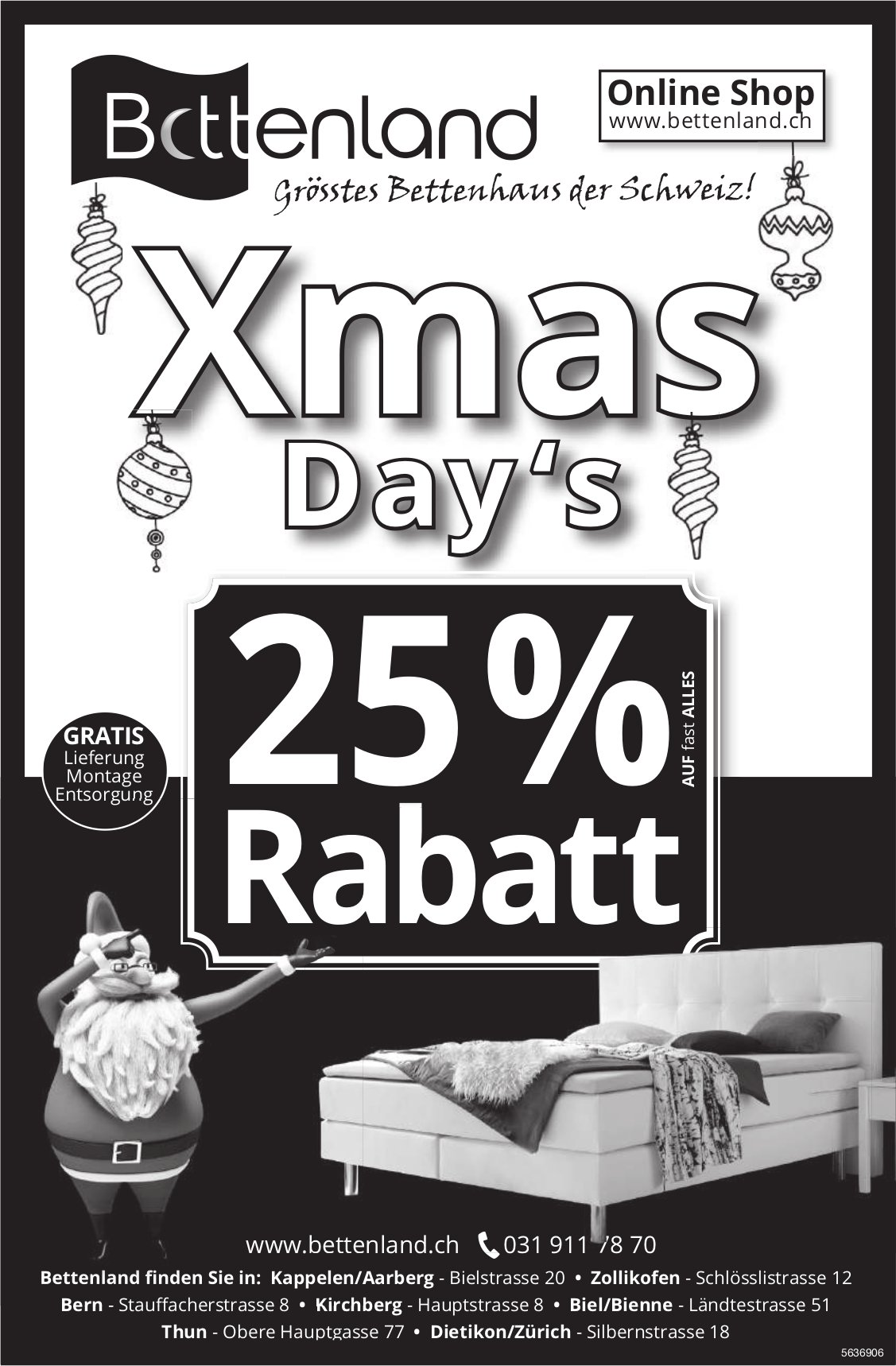 Bettenland - Xmas Day's - 25% Rabatt