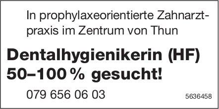Dentalhygienikerin (HF) 50–100%, Zahnarztpraxis im Zentrum von Thun, gesucht!