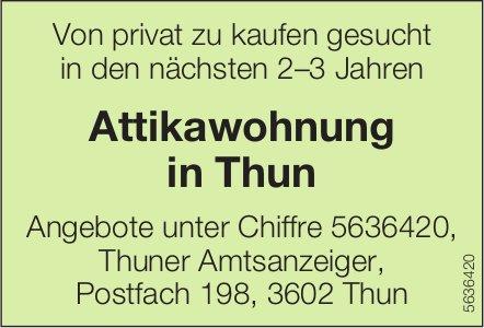 Attikawohnung in Thun von privat zu kaufen gesucht in den nächsten 2–3 Jahren