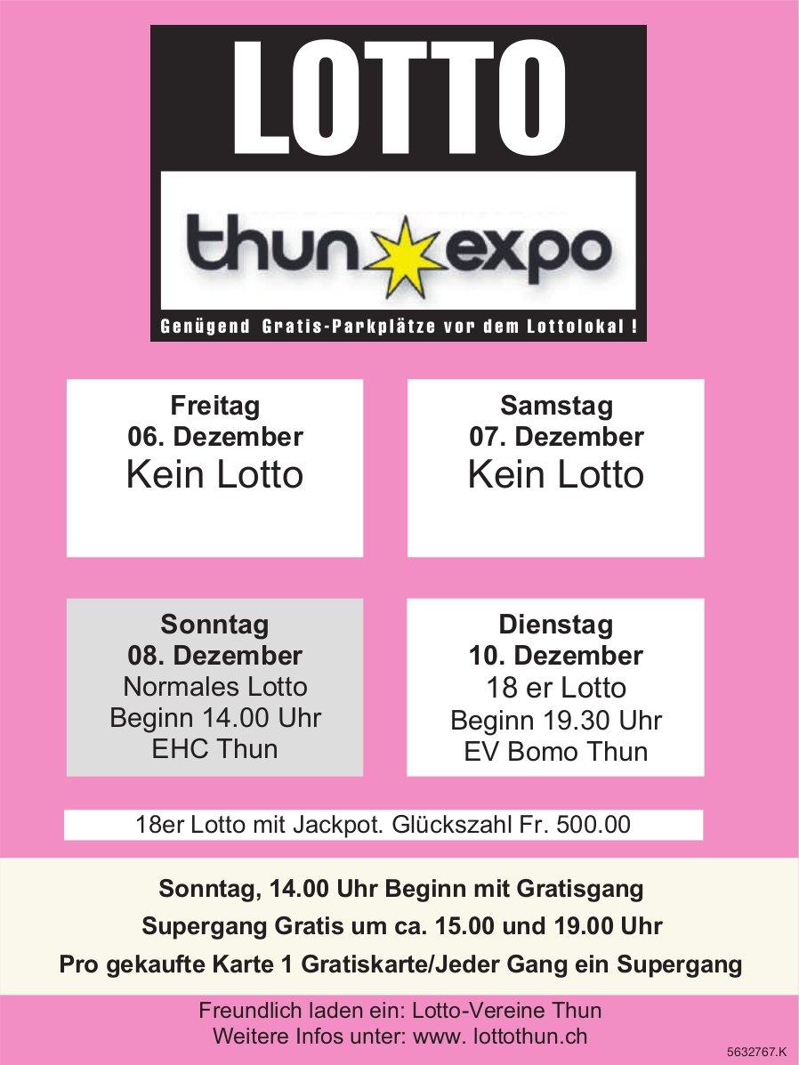 LOTTO Thun Expo, 8. + 10. Dezember
