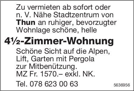 4½-Zimmer-Wohnung n. V. Nähe Stadtzentrum von Thun zu vermieten