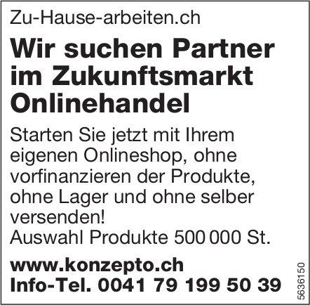 Wir suchen Partner im Zukunftsmarkt Onlinehandel