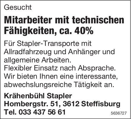 Mitarbeiter mit technischen Fähigkeiten, ca. 40%, Krähenbühl Stapler, Steffisburg, gesucht