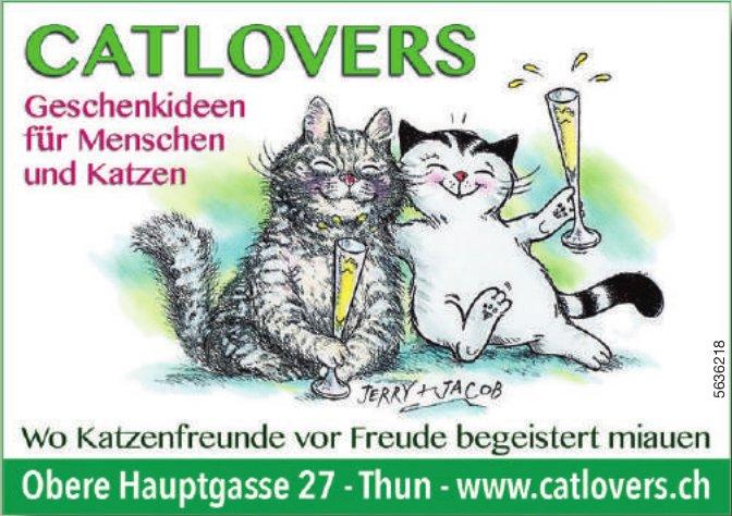 CATLOVERS - Geschenkideen für Menschen und Katzen