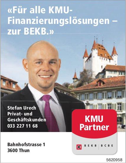 BEKB - «Für alle KMU- Finanzierungslösungen – zur BEKB.»