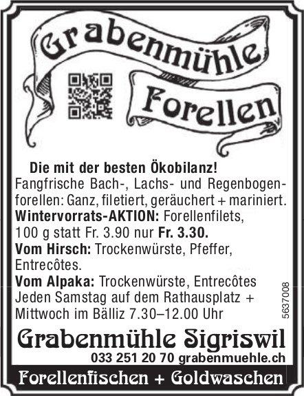 Grabenmühle Sigriswil - Die mit der besten Ökobilanz! Wintervorrats-AKTION