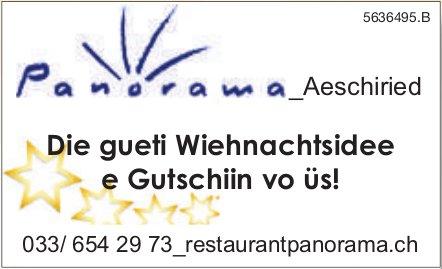 Restaurant Panorama Aeschiried - Die gueti Wiehnachtsidee e Gutschiin vo üs!