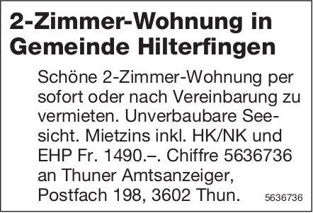 2-Zimmer-Wohnung in Gemeinde Hilterfingen zu vermieten