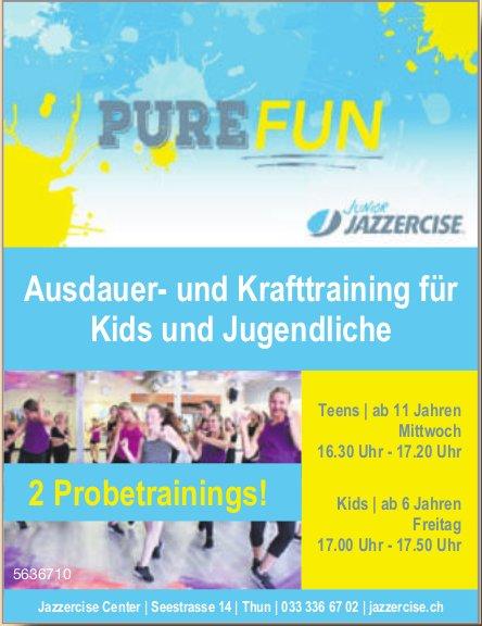 Jazzercise Center - Ausdauer- und Krafttraining für Kids und Jugendliche: 2 Probetrainings!