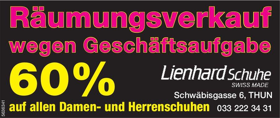 Lienhard Schuhe - Räumungsverkauf wegen Geschäftsaufgabe 60%