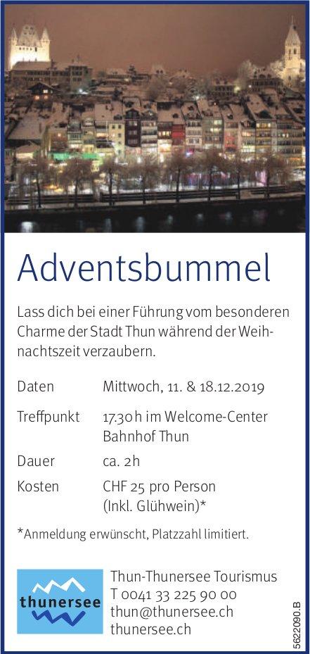 Thun-Thunersee Tourismus - Adventsbummel, 11. & 18. Dezember