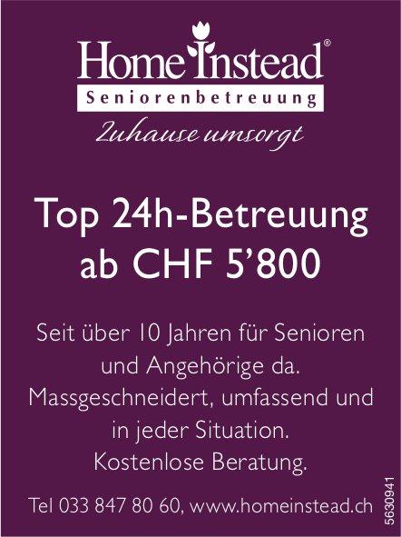 Home Instead Seniorenbetreuung - Top 24h-Betreuung ab CHF 5'800
