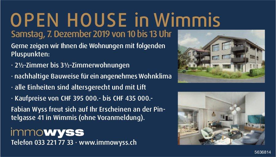 2.5-Zimmer bis 3.5-Zimmerwohnungen zu verkaufen: OPEN HOUSE in Wimmis am 7. Dezember
