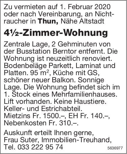 4½-Zimmer-Wohnung in Thun zu vermieten