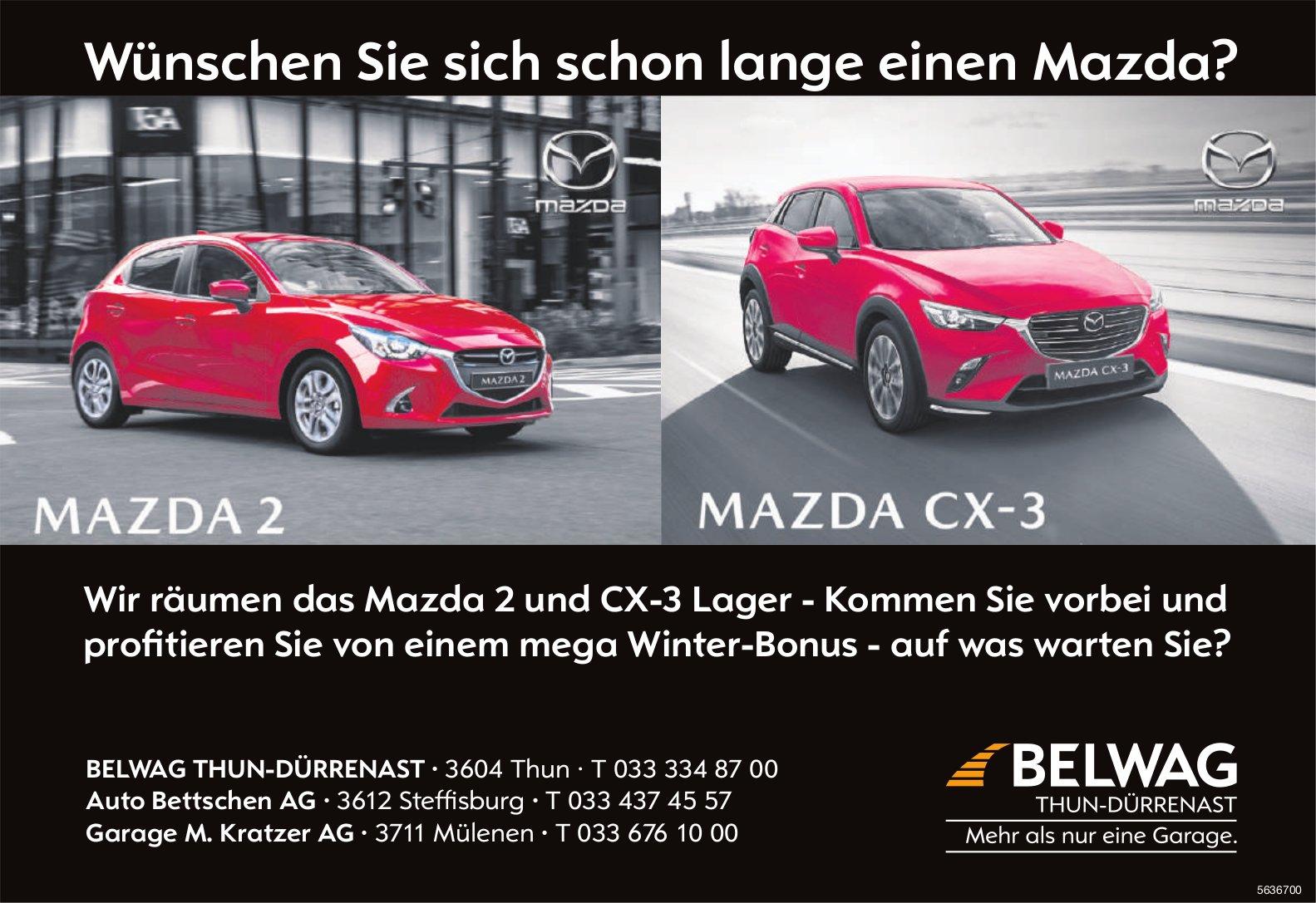 BELWAG THUN-DÜRRENAST, Thun - Wünschen Sie sich schon lange einen Mazda?