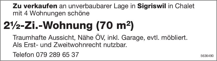 2½-Zi.-Wohnung (70 m2) in Sigriswil zu verkaufen