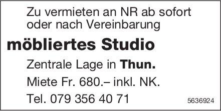 Möbliertes Studio in Thun zu vermieten