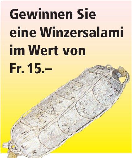 Gewinnen Sie eine Winzersalami im Wert von Fr. 15.–