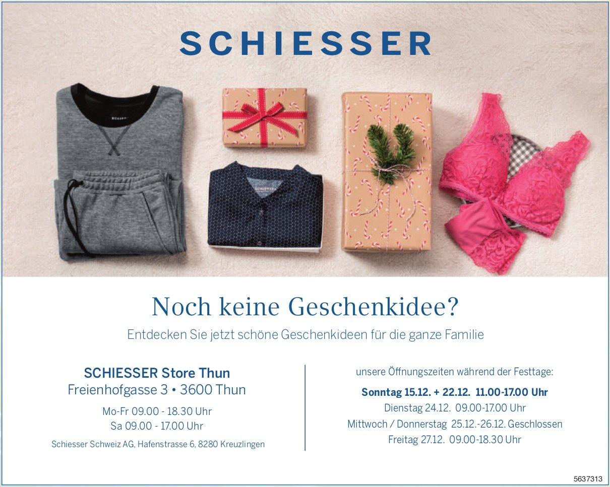 SCHIESSER Store Thun - Noch keine Geschenkidee?