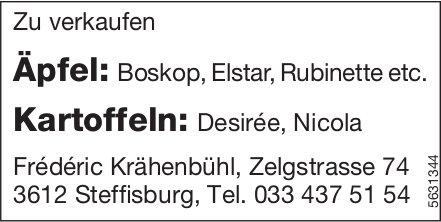 Äpfel und Kartoffeln zu verkaufen - Frederic Krähenbühl