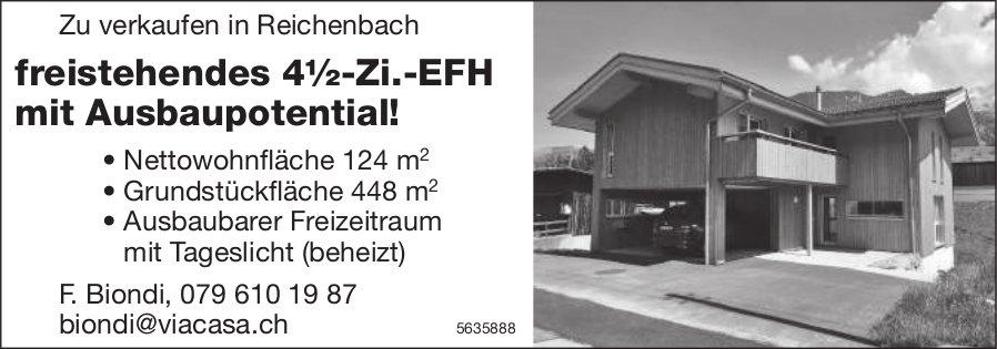 Freistehendes 4½-Zi.-EFH mit Ausbaupotential in Reichenbach zu verkaufen