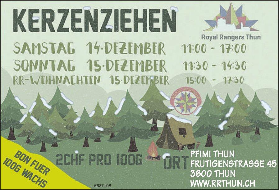 PFIMI Thun/ Royal Rangers Thun - Kerzenziehen, 14. + 15. Dezember