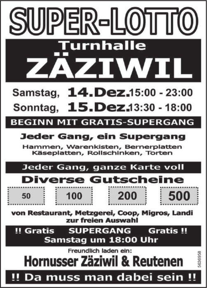 SUPER-LOTTO, Turnhalle Zäziwil, 14./15. Dezember